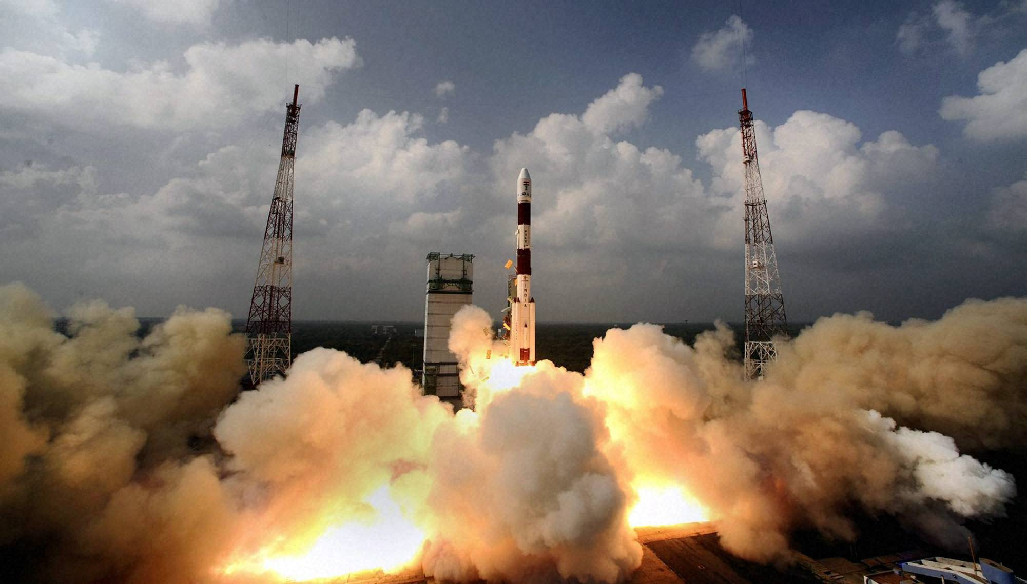 ISRO navigation (route) satellite in orbit