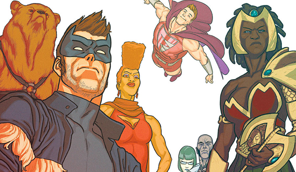 Superheroes turn Grand, With the LGBT band.