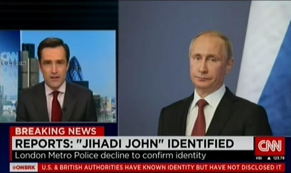 Has CNN done it on purpose? Posing Putin as 'Jihadi John'