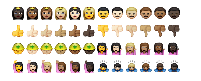 Apple is being racist with its new diverse emojis