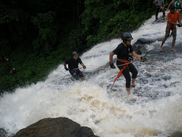 Rappelling in Vihigaon falls