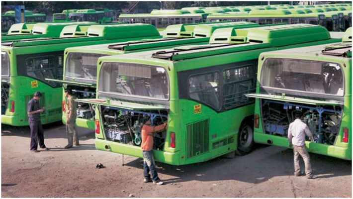 DTC buses in rainy season will leave you stranded & dripping wet. 400 buses break down every day!