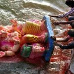 The sea cries bloody tears every year as millions swarm in with toxic poisons camouflaged in Ganpati idols.
