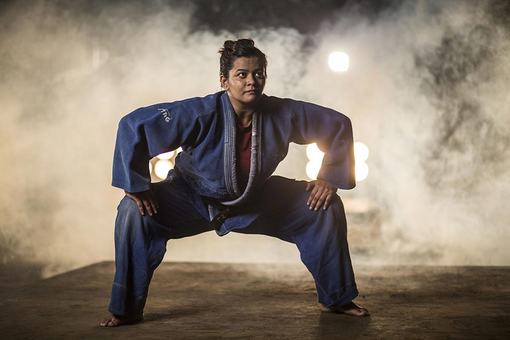 Her name is Hetal Dave, the only woman sumo wrestler in India! She's also ill-fated!