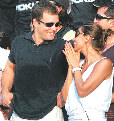 Rahul Gandhi and Veronique