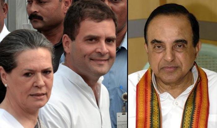 Sonia Gandhi, Rahul Gandhi, Subramaniam Swamy