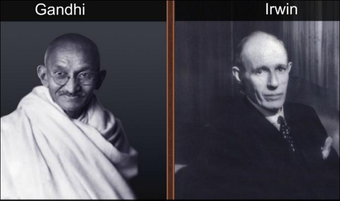Mahatma Gandhi and Irwin