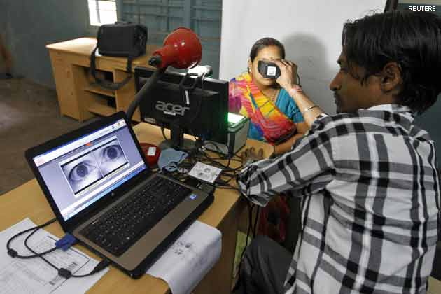 The process of collecting biometric data for the Aadhaar Card was quite simple