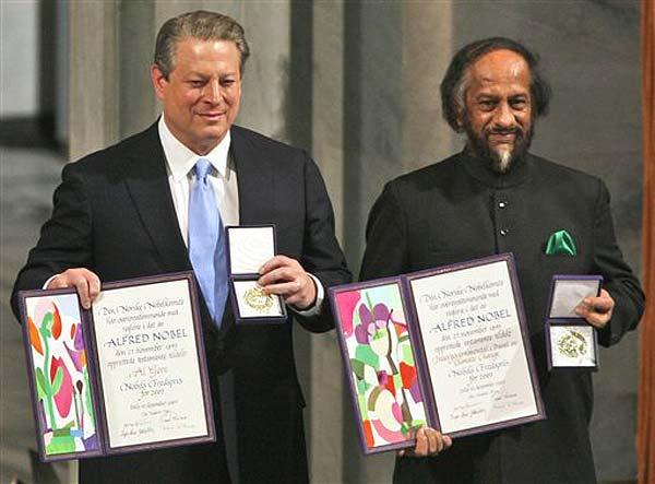 RK Pachauri and Al Gore