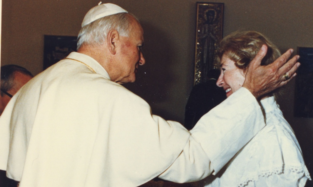 Pope John Paul II with Anna