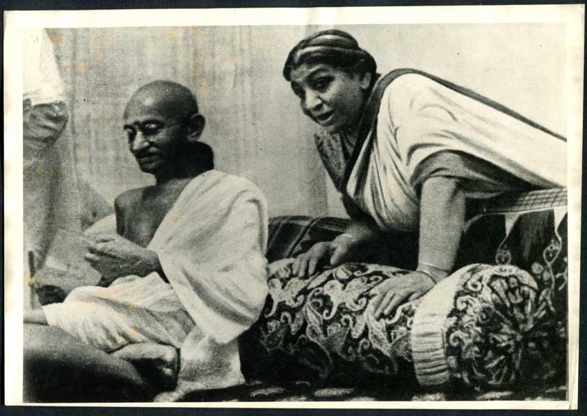 sarojini naidu and mahatma gandhi