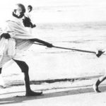 Gandhi, the calculative lawyer, emotionally blackmailed the British to win India's freedom