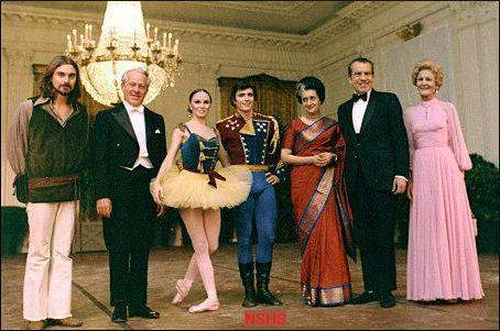 Nixon and Indira Gandhi