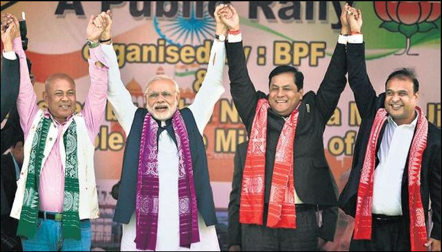 Congress has been decimated in Assam, which has given BJP a foot in the North-Eastern door