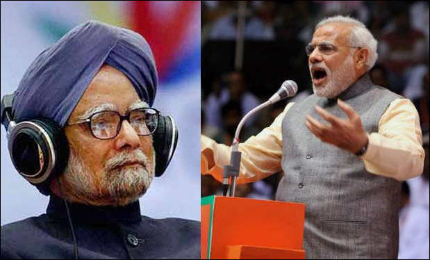 Narendra Modi and Manmohan Singh