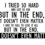 In the end it doesn't even matter !!! (Chuck Tension)