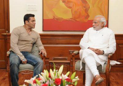 Actor Shri Salman Khan calling on the Prime Minister, Shri Narendra Modi, in New Delhi on November 06, 2014.