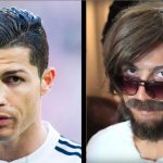 Fat, bearded, and long-haired Christiano Ronaldo casts a spell on the streets of Madrid!