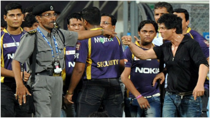 Welcome back to the Wankhede, Shahrukh. How long before you get drunk and pick up another fight?