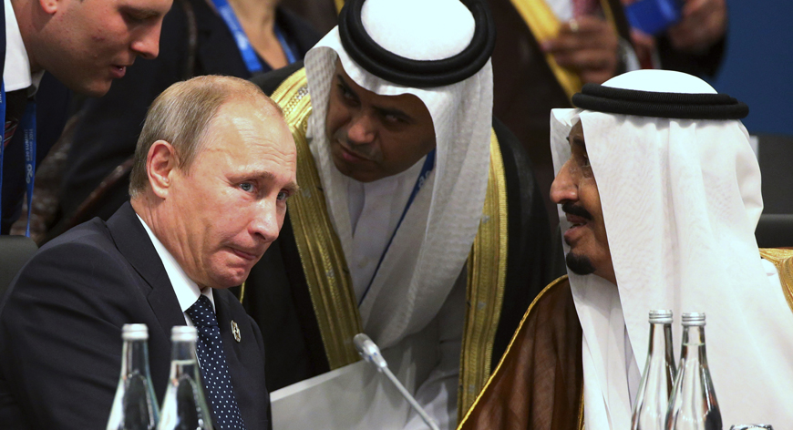 Coup against hospitalised King Faisal could end US supremacy over Saudi Arabia's oil fields. Russians are already circling nearby!