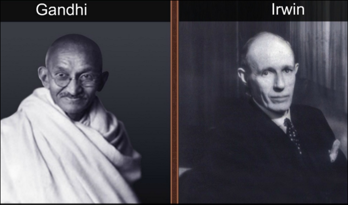 Mahatma Gandhi and Irwin