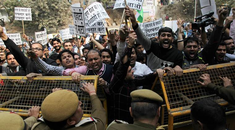 Protests at JNU