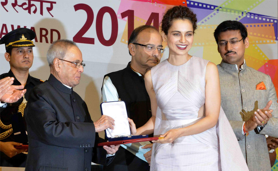 Kangana's portrayal of simple girl going on a lone honeymoon in Queen won her the first National Award for best actress in 2015.
