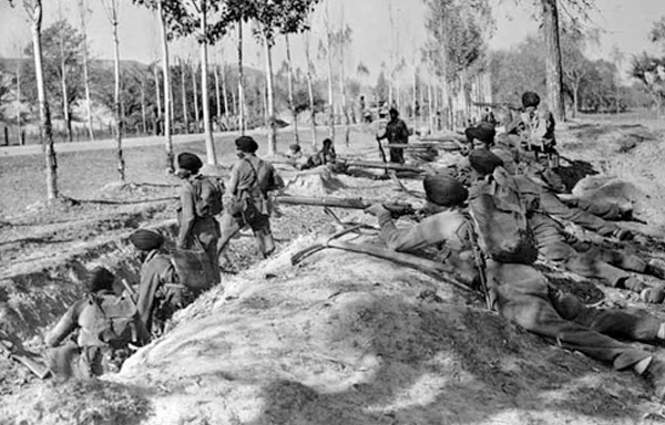 Indian troupes during the Indo-Pak war of 1947-48 over Kashmir dispute