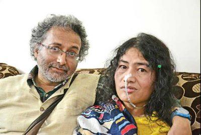 Irom Sharmila and her Goan born British friend Desmond Coutinho