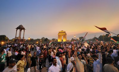 This crowd was pulled by Anna Hazare, to stand up against corruption