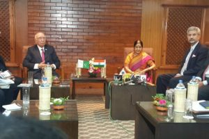 Sartaj Aziz and Sushma Swaraj