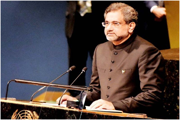 Shahid Khaqan Abbasi, the voice of nation, Pakistan in UN General Assembly