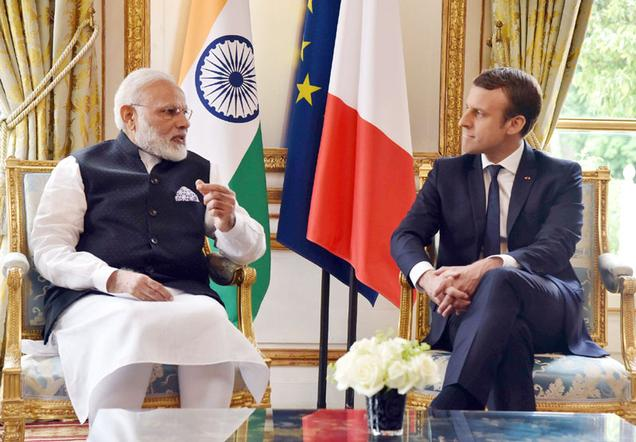 france india defence deal, French President Emmanuel Macron visits India