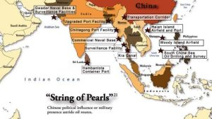 China's string of pearls around Indian Ocean