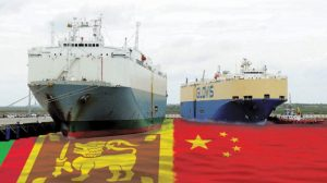 Hambantota port constructed by China