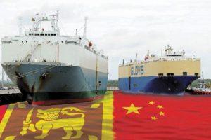 Hambantota port constructed by China