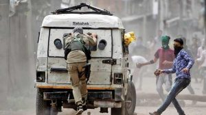 CRPF vehicle attacked by Militants